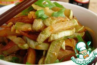 Кабачок с картофелем на китайский лад