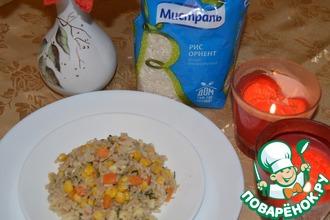 Рис с овощам и яйцами