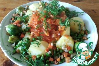 Свинина с овощами для сытного ужина