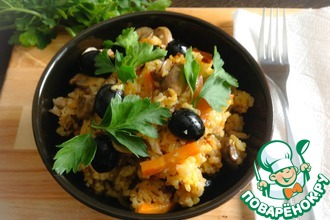 Рис с грибами и маслинами