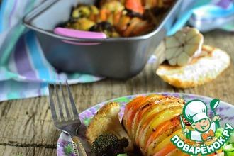Картофель с брокколи и цветной капустой
