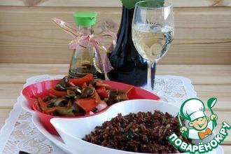 Рис со шпинатом и орехами