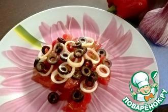 Салат из прессованных помидоров