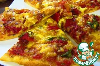 Домашняя пицца на пышном дрожжевом тесте