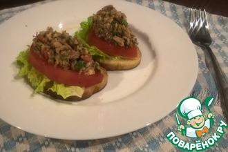Рыбно-овощные бутерброды