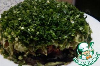 Салат-торт по мотивам японских роллов