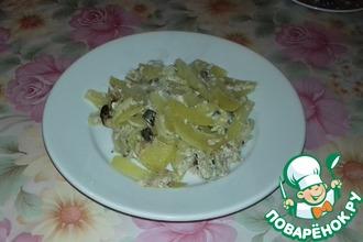 Запеканка из скумбрии и картофеля в духовке