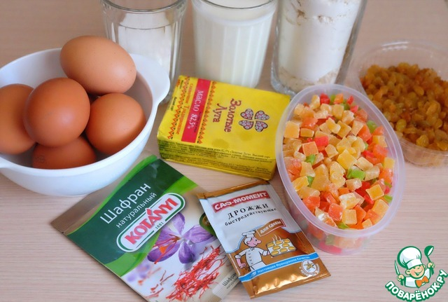 Ингредиенты для приготовления куличей.