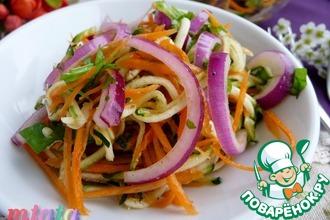 Салат из цуккини с луком