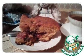 """Масляный пирог с карамельными фруктами """"Компромисс"""""""