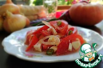 """Салат из помидоров """"Острый"""""""