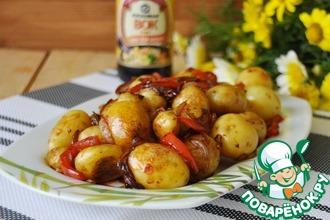 Жареный мелкий картофель по-корейски