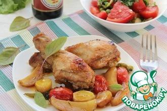Курица с овощами в пикантном маринаде