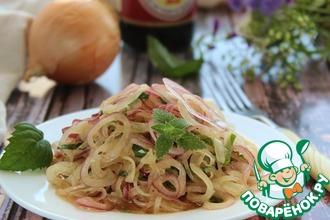 Салат из репчатого лука с мятой