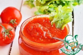 Соус из печеных томатов