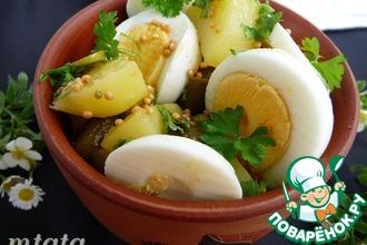 Салат из молодого картофеля с яйцом