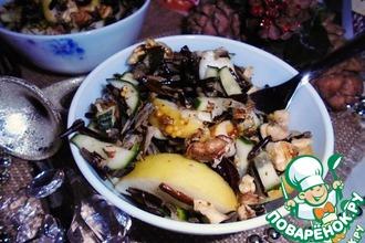 Салат с рисом, огурцами и яблоками