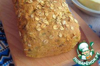 Овсяный хлеб с зеленью
