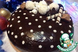 """Шоколадный торт """"Зимняя ночь"""""""