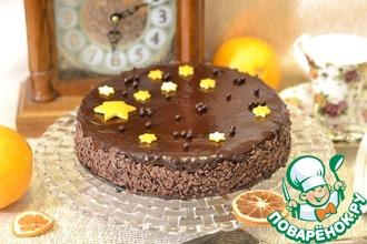 Шоколадный апельсиново-ореховый торт