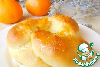 Апельсиновые булочки с мандаринами