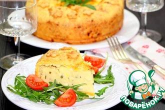 Картофельный пирог с сыром и зеленью