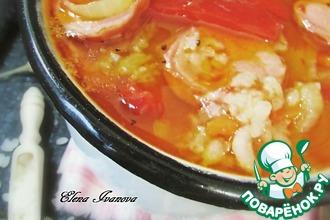 Рисовый суп с лечо