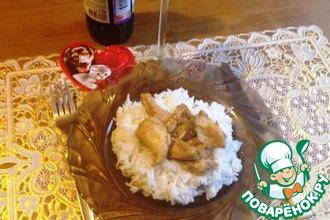 Курица с цитрусовым соусом карри