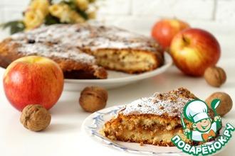 Яблочно-ореховый пирог с сахарной крошкой