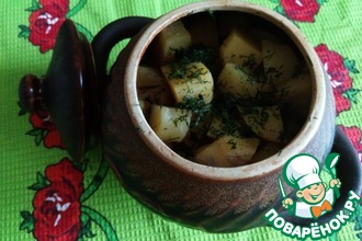 Бараньи ребрышки с картофелем в горшочках