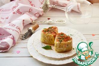 Порционный омлет с картофелем и рыбой