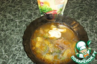 Суп из брокколи с куриным мясом