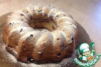 Творожный кекс-пудинг с брусникой