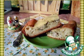 Быстрый пирог с курицей для гостей