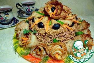 Закусочный пирог из блинов
