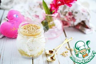 Творожно-карамельный завтрак с орехами