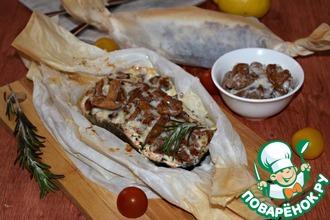 Лосось с грибами в сливочном соусе