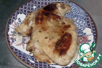 Курица с креветками и картофелем