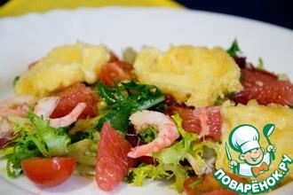 Свежий салат с жареным медовым сыром