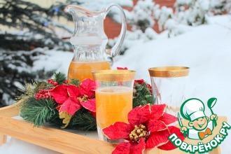 """Рождественский лимонад """"Бокал в снегу"""""""