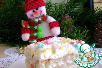 Бисквитно-ликерный торт «Новогодняя елка»