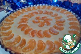 Творожный тарт с мандаринами