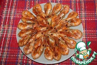 Кисло-сладкие креветки с бренди