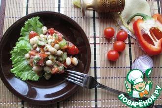 Салат из фасоли, помидоров и перца