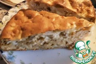 Яблочный пирог с мёдом и орехами