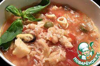 Рыбный суп в итальянском стиле