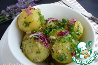 Молодой картофель в ароматном соусе