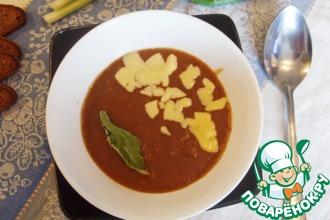 Суп-пюре на квасе с имбирём