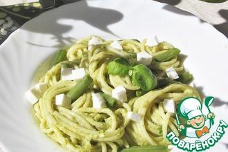 Спагетти с песто из грецких орехов