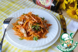 Салат из моркови по-корейски с курицей